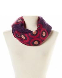 Темно-пурпурный шарф