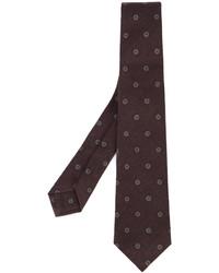 Мужской темно-пурпурный шерстяной галстук с принтом от Kiton