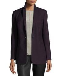 Темно-пурпурный шерстяной пиджак