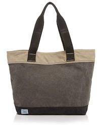 Темно-серая большая сумка из плотной ткани
