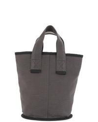 Темно-серая большая сумка из плотной ткани от Cabas