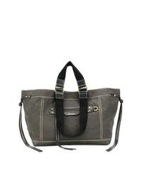 Темно-серая большая сумка из плотной ткани от Isabel Marant