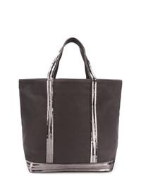 Темно-серая большая сумка из плотной ткани от Vanessa Bruno