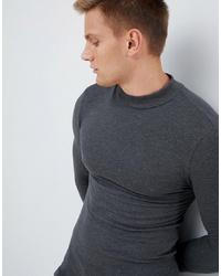 Мужская темно-серая водолазка от ASOS DESIGN