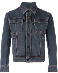 63ae77d8d61 Купить мужскую темно-серую джинсовую куртку - модные модели джинсовых курток