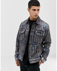 Мужская темно-серая джинсовая куртка от ASOS DESIGN