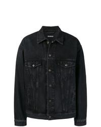 Мужская темно-серая джинсовая куртка от Balenciaga