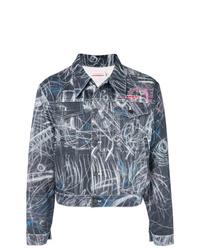Мужская темно-серая джинсовая куртка от Charles Jeffrey Loverboy