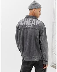 Мужская темно-серая джинсовая куртка от Cheap Monday