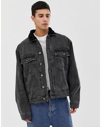 Мужская темно-серая джинсовая куртка от Collusion