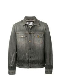 Мужская темно-серая джинсовая куртка от Diesel
