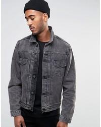 a255fc6db94 Купить мужскую темно-серую джинсовую куртку в интернет-магазине Asos ...