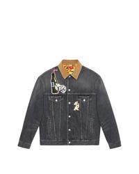 Мужская темно-серая джинсовая куртка от Gucci