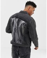 Мужская темно-серая джинсовая куртка от Liquor N Poker