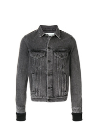 Мужская темно-серая джинсовая куртка от Off-White