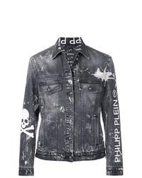 Мужская темно-серая джинсовая куртка от Philipp Plein