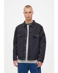 Мужская темно-серая джинсовая куртка от Pull&Bear