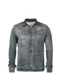 Мужская темно-серая джинсовая куртка от Rick Owens DRKSHDW