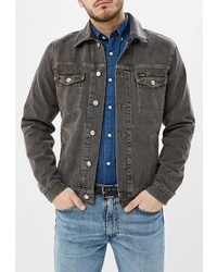 Мужская темно-серая джинсовая куртка от Wrangler