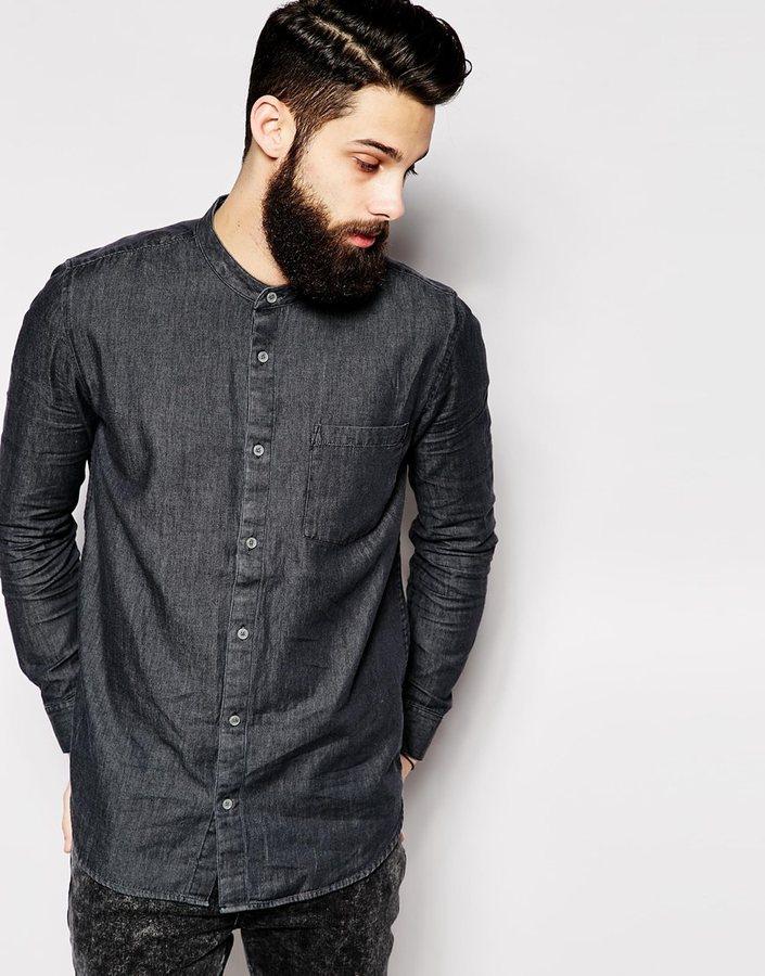 de679015b3f ... рубашки Мужская темно-серая джинсовая рубашка от Cheap Monday ...