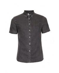 0d344cc9aae Купить мужскую темно-серую джинсовую рубашку - модные модели ...