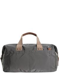 Темно-серая дорожная сумка из плотной ткани