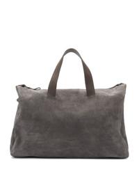 Темно-серая замшевая дорожная сумка