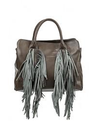 Женская темно-серая кожаная большая сумка от Moronero