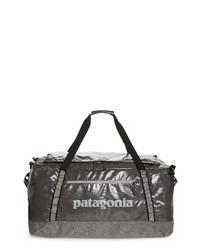 Темно-серая кожаная дорожная сумка