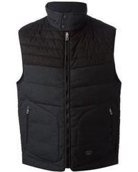 Темно-серая куртка без рукавов