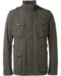 Темно-серая куртка в стиле милитари
