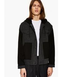 Мужская темно-серая куртка-рубашка от Topman
