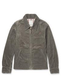 Темно-серая куртка с воротником и на пуговицах