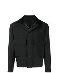 Темно-серая куртка с воротником и на пуговицах от Lemaire