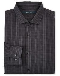 Темно-серая рубашка с длинным рукавом в клетку