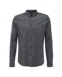 Мужская темно-серая рубашка с длинным рукавом от Burton Menswear London