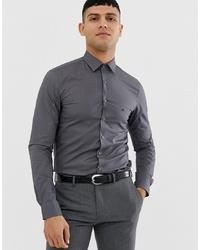 Мужская темно-серая рубашка с длинным рукавом от Calvin Klein