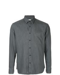 Мужская темно-серая рубашка с длинным рукавом от Cerruti 1881