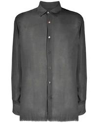 Мужская темно-серая рубашка с длинным рукавом от Federico Curradi