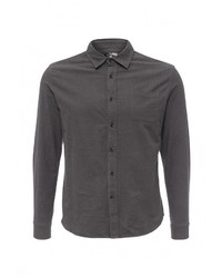 Мужская темно-серая рубашка с длинным рукавом от Gianni Lupo