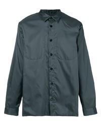 Мужская темно-серая рубашка с длинным рукавом от Jil Sander