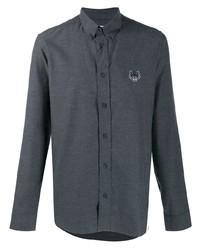 Мужская темно-серая рубашка с длинным рукавом от Kenzo