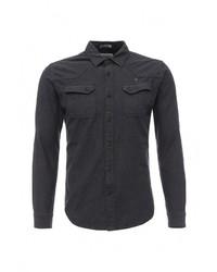 Мужская темно-серая рубашка с длинным рукавом от Mezaguz