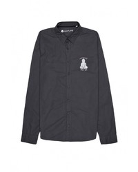 Мужская темно-серая рубашка с длинным рукавом от Monflame