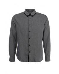 Мужская темно-серая рубашка с длинным рукавом от Tom Farr