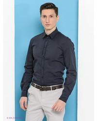 Мужская темно-серая рубашка с длинным рукавом от Trussardi