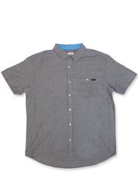 Темно-серая рубашка с коротким рукавом