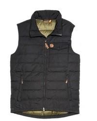 Темно-серая стеганая куртка без рукавов