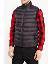 Мужская темно-серая стеганая куртка без рукавов от Brave Soul