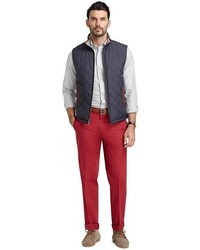 Мужская темно-серая стеганая куртка без рукавов от Brooks Brothers